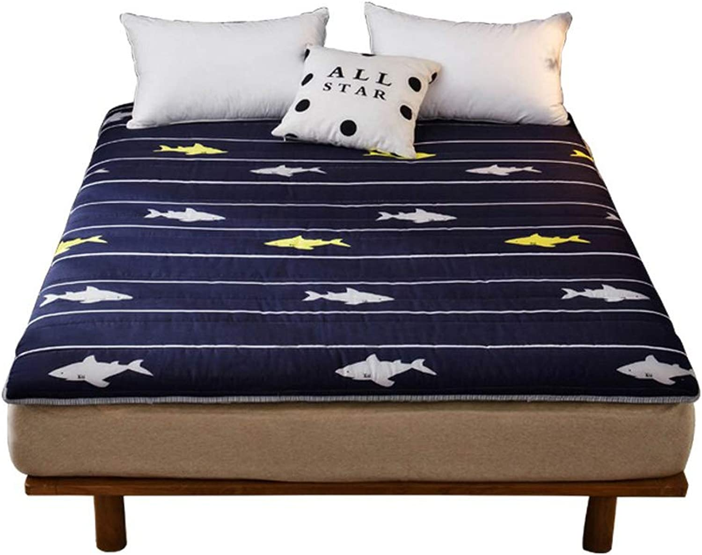 Fluffy Breathable Mattress, Tatami futon Mattress, Super Soft Sleeping pad Mattress Predectors Non-Slip Queen Mattress Topper -B 90x200cm(35x79inch)