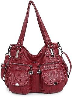 Angelkiss Women Handbag PU Shoulder Bag Top-handle Bag Multifunctional Bag Washable Casual Bags Bolsa