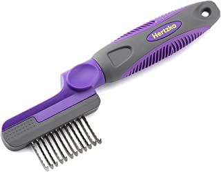 Hertzko Rounded Blade Dematting Comb Round Long Blades with Safety Edges - Great for Cutting and Removing Dead, Matted or Knotted Hair
