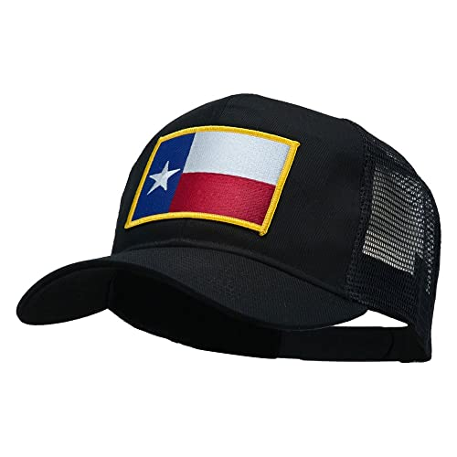916415b3 E4hats Texas State Flag Patched Mesh Cap - Black