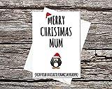 Funny AF tarjetas martillo de lujo A5Tarjeta feliz Navidad mam de tu carga financiera