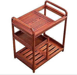 WD Solid Wood Mobile Coffee Table Kung Fu Tea Set Multi-Function Storage Rack Simple Home