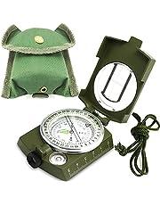 ydfagak Kompaskompas, wandelen, waterdicht wandelen, militaire navigatiekompas met fluorescerend design, perfect voor kamperen, wandelen en andere outdoor-activiteiten.