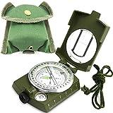 ydfagak Kompass kompass wandern Wasserdicht Wandern Militär Navigation Kompass mit Fluoreszierendem Design, Perfekt für Camping Wandern und andere Outdoor-Aktivitäten