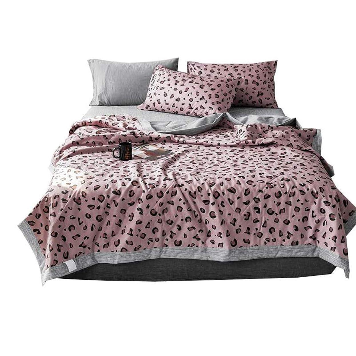 バンバング真実夏のヒョウ柄プリントコットンナップ毛布夏の薄いキルト寝具エアコン付きのクールな毛布のための薄い掛け布団,Single
