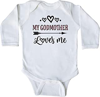 inktastic My Godmother Loves Me Girls Long Sleeve Creeper