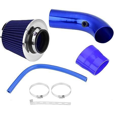 Kit dinduction de filtre /à air froid de voiture syst/ème dadmission dair froid universel de bo/îte de filtre dinduction de Ram en fibre de carbone de 76mm 3avec tuyau dadmission