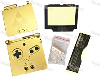 Oulekai Maoyi Gold For Zelda Limited Edition Housing Shell Case Cover for Gameboy Advance SP GBA SP Game Console w/ Plasit...
