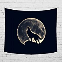 Rich Boxer Tapestry Beach Throw Tapestry Wall Hanging Dorm Decor for Living Room Bedroom Beach (Black Wolf)(80x50Inches)(203x150cms)