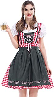 Women Sexy Bavaria Oktoberfest Dirndl Costume German Beer Girl Wench Maid Outfit Fantasia Party Fancy Dress