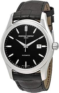 Frederique Constant Automatic Black Dial Black Leather Watch 303B6B6