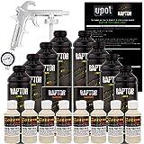 U-POL Raptor Shoreline Beige Urethane Spray-On Truck Bed Liner Kit W/Free Spray Gun, 8 Liters