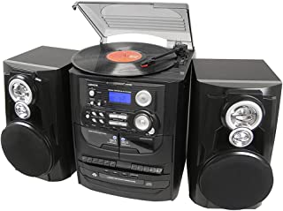 Lenoxx 3in1 3-CD system, 3-speed turntable, dual cassette