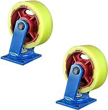 Zwenkwielen (2 stuks) 12 inch super heavy duty kern nylon universeel wiel 10 inch beweegbaar wiel met rem duwwiel heavy duty