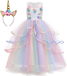 Princess Unicorn Dress Up for Little Girls Birthday Party Unicorn Costume Dresses