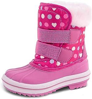 HZSTAY Toddler Waterproof Winter Outdoor Snow Boots(Girls/Little Kids)