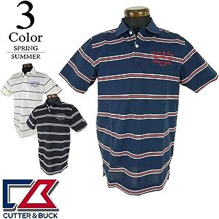 [カッター&バック] 半袖ポロシャツ (ボーダー柄) メンズ ゴルフウェア