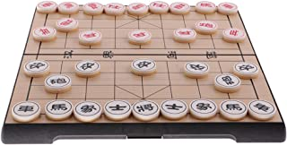 HOMYL Portable Xiangqi Chinese Chess Set Foldable Board Game Family Game