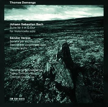Bach: Suite Nr.1 für Violoncello solo / Veress: Sonata