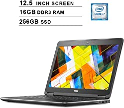Dell Latitude E7250 Ultrabook 12.5 Inch Business Laptop, Intel Dual Core i7-5600U up to 3.2GHz, Intel HD 5500, 16GB DDR3 RAM, 256GB SSD, FP Reader, HDMI, WiFi, Windows 10 Pro (Renewed)