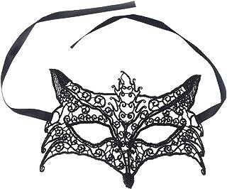 HEALIFTY Halloweenmask räv form ihålig mask spets mask kostym för halloween maskerad fest halloween