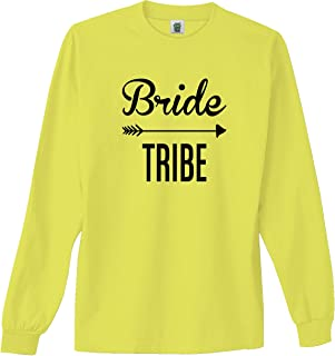 Bride Tribe Bright Neon Adult Long Sleeve T-Shirt - 6 Bright Colors