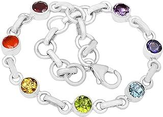 "Xtremegems 9.4g Healing Chakra 925 Sterling Silver Bracelet Jewelry 8"" CP123"