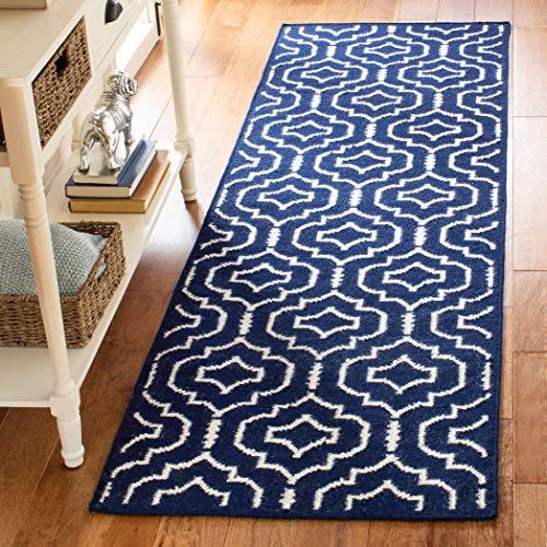 Safavieh Dhurries Collection DHU637D Handmade Flatweave Premium Wool Runner, 2