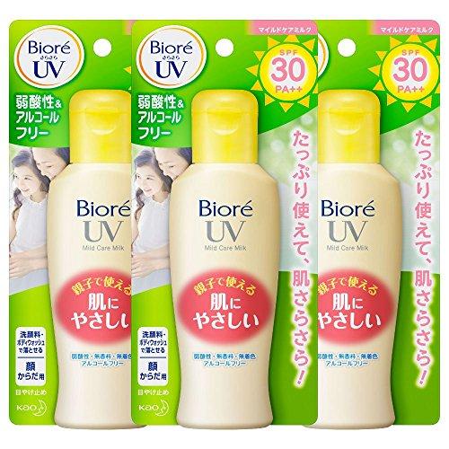 【まとめ買い】ビオレUV マイルドケアミルク SPF30 PA++ 3個パック