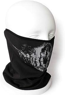 SHENKEL 超軽量 薄手 メッシュ ネックガード ネックカバー フェイスガード (スカル v2) 通気性 伸縮性 日除け 春夏用 フェイスマスク メンズ レディース 男女兼用