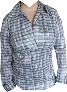 2HEARTS Umstands-Bluse Happy Dots rot verspielte Schwangerschaftsbluse mit halbtransparenten /Ärmeln /& Rundhalsausschnitt