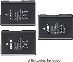 Kastar Battery (3-Pack) for Nikon EN-EL14, EN-EL14a, MH-24 work with Nikon Coolpix P7000, Coolpix P7100, Coolpix P7700, Coolpix P7800, D3100 DSLR, D3200 DSLR, D3300 DSLR, D5100 DSLR, D5200 DSLR, D5300, D5500 DSLR, Df DSLR Cameras