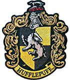 Ata-Boy Harry Potter Hufflepuff Crest 3' Full Color Iron-On Patch,Black & Gold,One Size