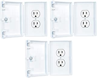 Child Be Safe, Child Resistant Electrical Outlet and Switch Covers (White, Traditional Outlet Cover, Set of 3)