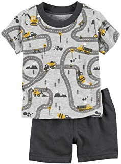 Toddler Boys Cotton Clothing Sets Short Sleeve Tee and...