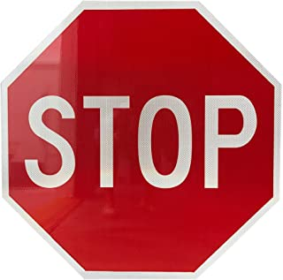 Stop Sign Street Road Sign 30 x 30. A Real Sign. 3M's Diamond Grade Sheeting.