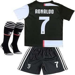 MBLLE Ronaldo #7 Juventus Home 2019/2020 Season Kids Youth Sport T-Shirts & Shorts & Socks