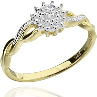 Best diamond accent flower ring Reviews