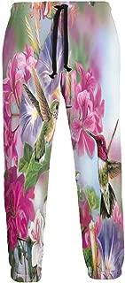 Cyloten Sweatpants Animated Beautiful Flowers Men's Trousers Lightweight Jogging Pants Casual Sportswear