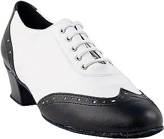 "Women`s Ballroom Dance Shoes Salsa Latin Practice Shoes 2008EB Comfortable-Very Fine 1.5"" [Bundle of 5]"