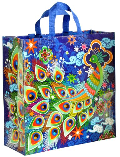 Blue Q Peacock Shopper Multicol