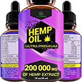 Quality you can trust - hemp oil drops for pain relief is formulated and manufactured with all natural ingredients. Yes! It's vegan friendly. Benefits - natural pain reliever, no stress and anxiety, promotes better quality sleep, good for heart and b...