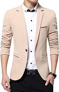 ZITY Men's Blazer Slim Fit Casual Lightweight Sports Coats Jackets One Button
