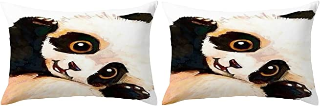 ARIGHTEX Sleeping Panda Pillow Cases Vintage Panda Bear Pillow Case Wildlife Animal Black and Brown Pillow Covers Set of 2 Panda Gifts (Sleepy, Standard 20 x 26)