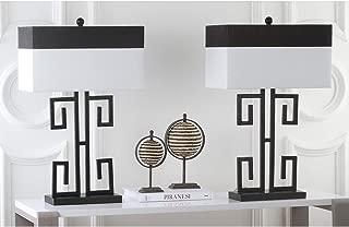 Safavieh Lighting Collection Greek Key Black 28-inch Table Lamp (Set of 2)