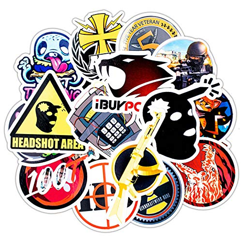 Later Ebay CS go Juego Motocicleta Coche Impermeable Trolley Case Pegatinas Graffiti Pegatinas 60PCS