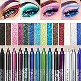 Delineadores De Colores Para Ojos, Eye Shadow Pencils Set Pearl...