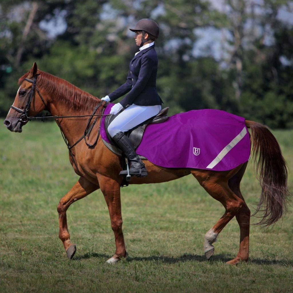 Harrison Howard Climax Pferdetrainingsdecke Wasserdichtes Hi-Vis-Futter Wettkampfteppich Fleece Schwarz M
