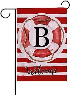 7 ألوان غرفة الصيف حديقة العلم ترحيب مزرعة ديكور حديقة الأعلام مع أشرطة الحياة العوامة رسالة B مزدوجة الجانب منزل ساحة الف...