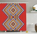 Nyngei de nativos Americanos de deEstilo Nativo Americano Azteca Patrónde Mosaico Símbolo étnico Imagen Impresiónde Arte SDE
